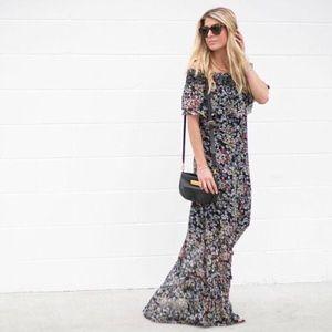 Rebecca Minkoff Loma Floral-Print Maxi Dress
